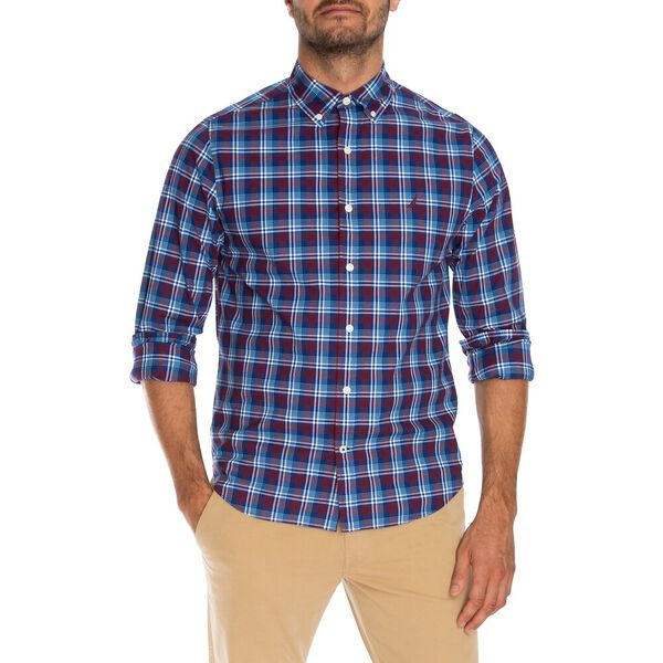 Slim Fit Wrinkle Resistant Plaid Shirt