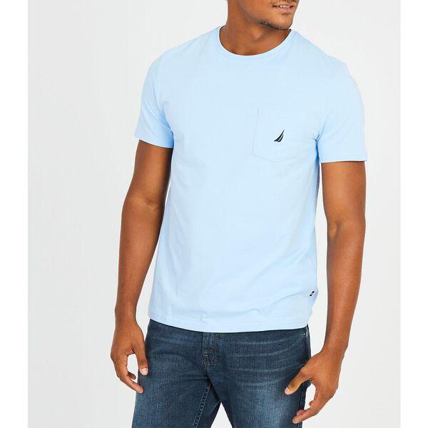 Big & Tall Active Stretch Pocket T-Shirt, Noon Blue, hi-res