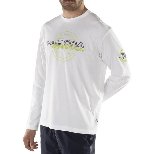 GHOSTED COMPETITION TEE, BRIGHT WHITE, hi-res