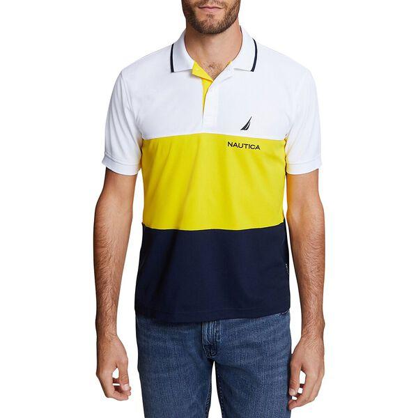 Big & Tall Navtech Colorblock Polo, Bright White, hi-res
