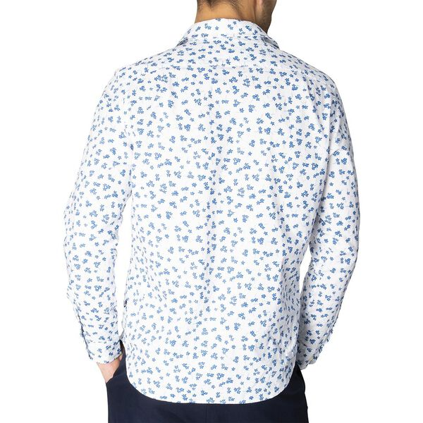 Navtech Floral Print Long Sleeve Shirt, Bright Wht, hi-res