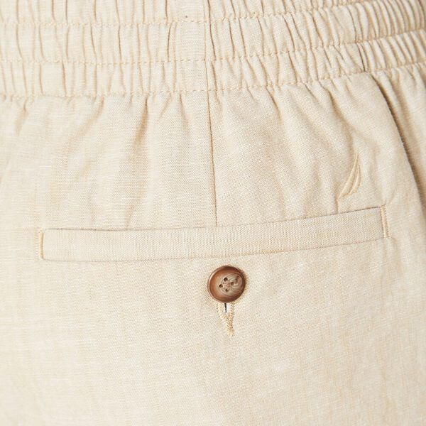 7in Textured Cotton Boardwalk Short, Bright White, hi-res
