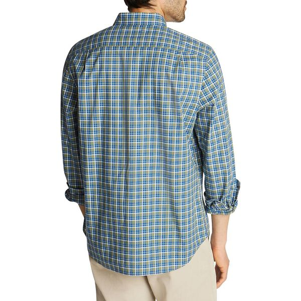 Classic Fit Stretch Plaid Shirt, Olivine, hi-res
