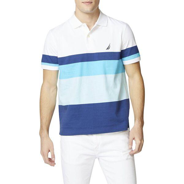 Engineered Stripe Polo, Bright White, hi-res