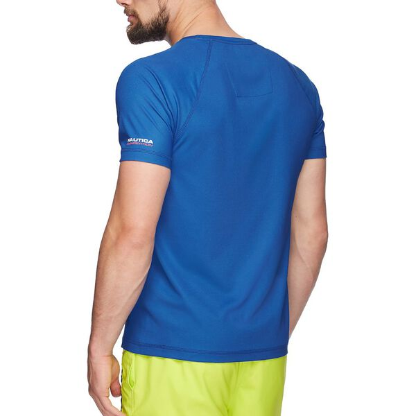 Nautica Competition Cooling Short Sleeve Tee, Bright Nautica Blue, hi-res