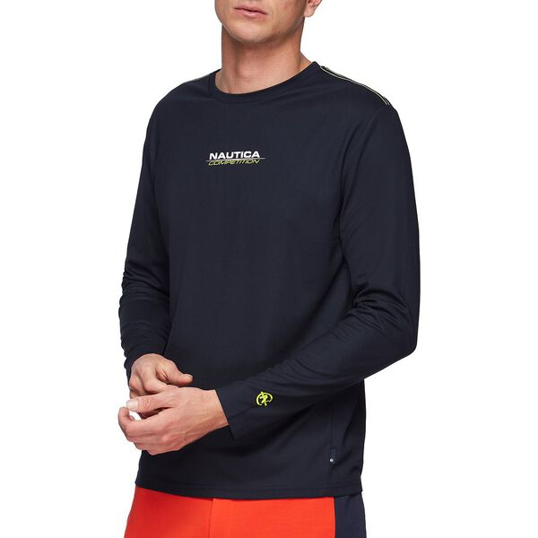 NAUTICA COMPETITION COOLING LONG SLEEVE TEE, NAVY, hi-res