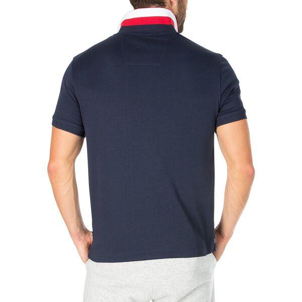 Block Collar Polo, Navy, hi-res
