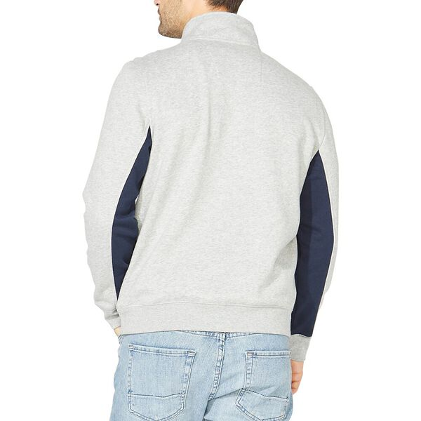 Nautica Sailing Team Quarter Zip Sweatshirt, Grey Heather, hi-res