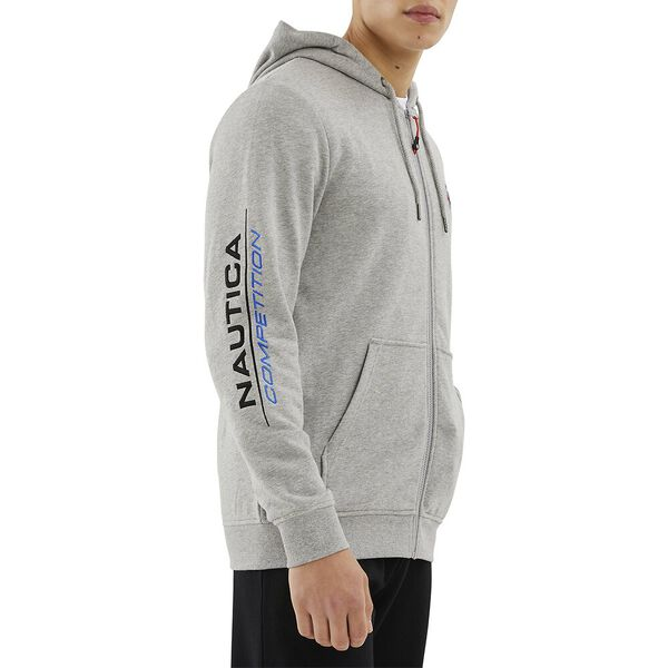 Nautica Competition Purser Full Zip Hoodie, Grey Heather, hi-res