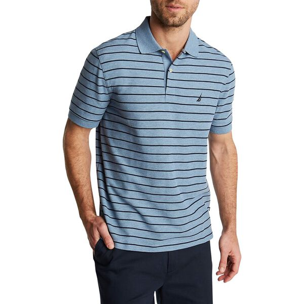 Striped Classic Fit Deck Polo, Deep Anchor Heather, hi-res
