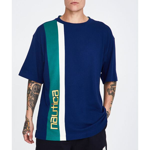 C&S Vertical Stripe T-Shirt Blue Depths
