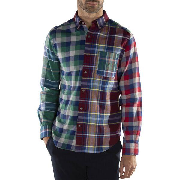 Mismatched Blue Sail Flannel Shirt, Zinfandel, hi-res