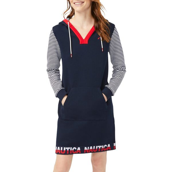 Bands and Stripes Hoodie Dress