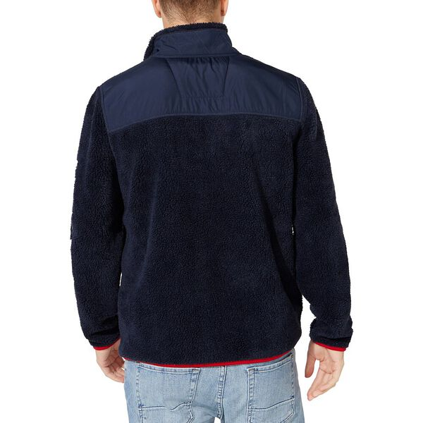 Nautica Sherpa Mix Jacket, Navy, hi-res