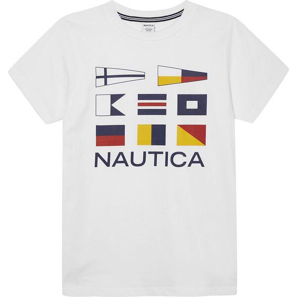 Boys 8-14 Sonar Nautical Flags Graphic Tee, White, hi-res