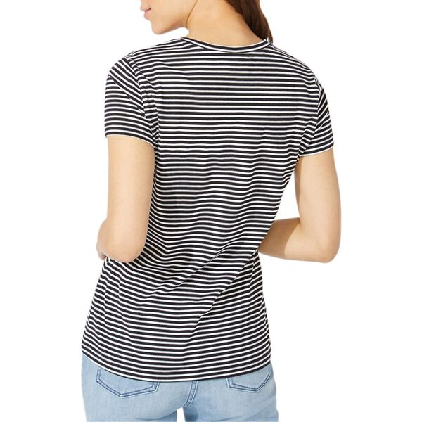 Stripe it Up V-Neck Tee, True Black, hi-res
