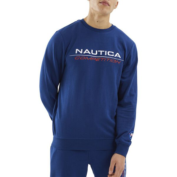 Nautica Competition Collier Sweater, Navy, hi-res