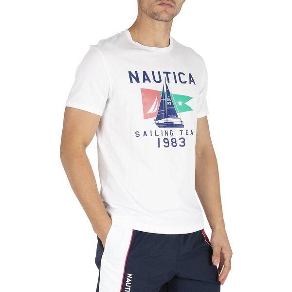 Sail Flag Icon Tee, Bright White, hi-res