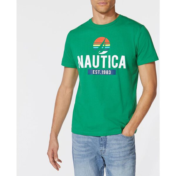 Nautica Circle Sliced J.Class Tee, Cosmic Fern, hi-res