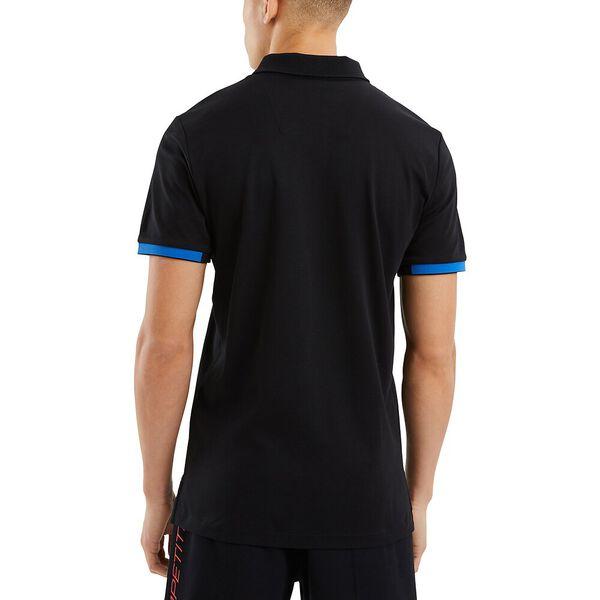 Nautica Competition Fantail Polo, Black, hi-res