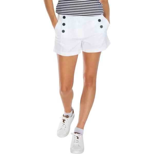 "4"" Stretch Twill Sailor Short, Bright White, hi-res"