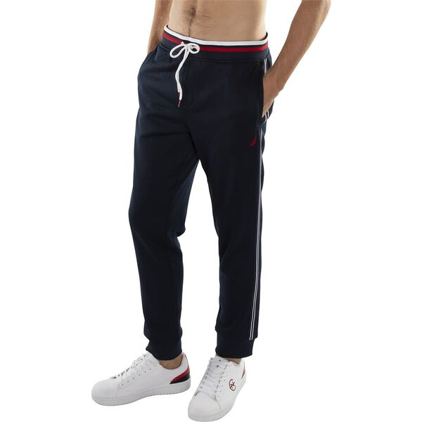KNIT ACTIVE TRACK PANT WITH SIDE TAPING