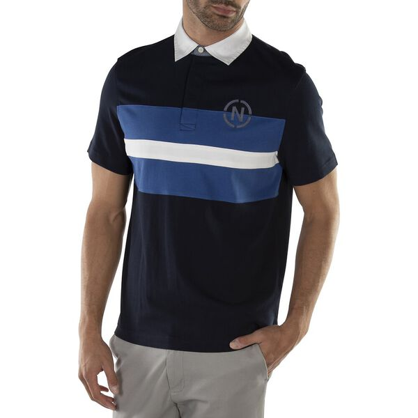 TRI-STACKED STRIPE POLO