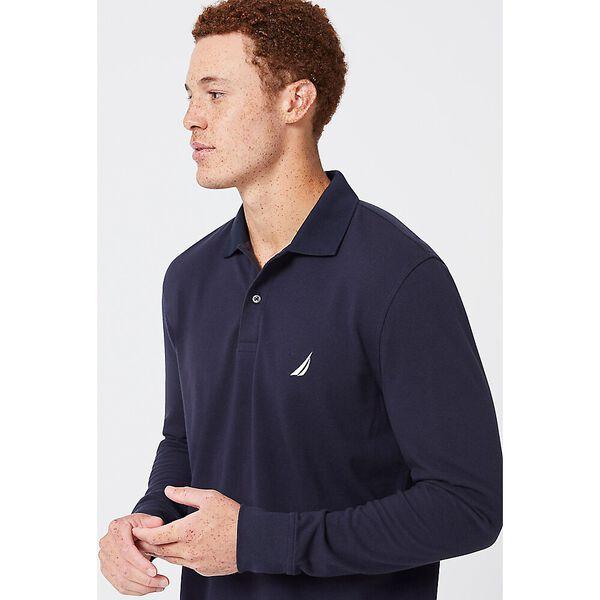 J. Class Long Sleeve Polo, Navy, hi-res