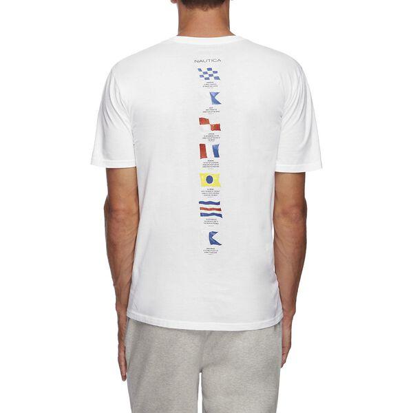 SHORT SLEEVE ANCHOR FLAG GRAPHIC T-SHIRT, BRIGHT WHITE, hi-res