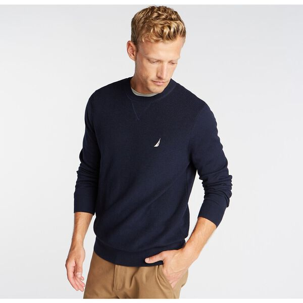 CREW NECK NAVTECH SWEATER, NAVY, hi-res