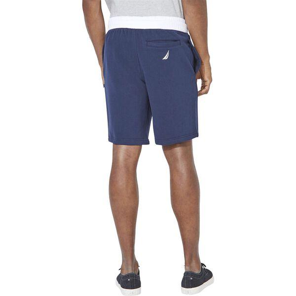 Nautica Logo Fleece Track Shorts, Navy, hi-res