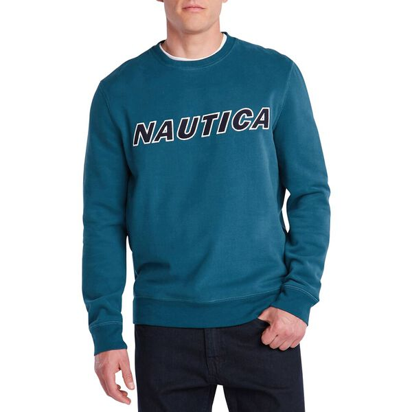 Fleeced Graphic Crew Sweater