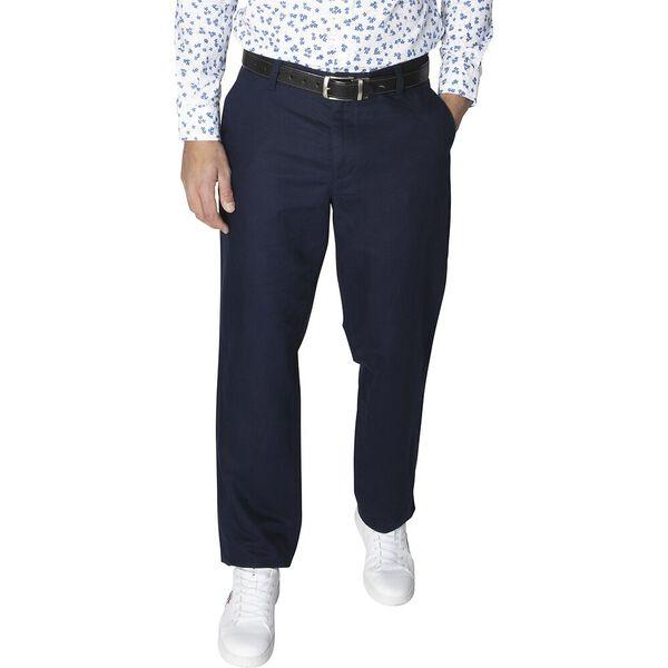 New Classic Cotton Linen Chino Pants, Navy, hi-res
