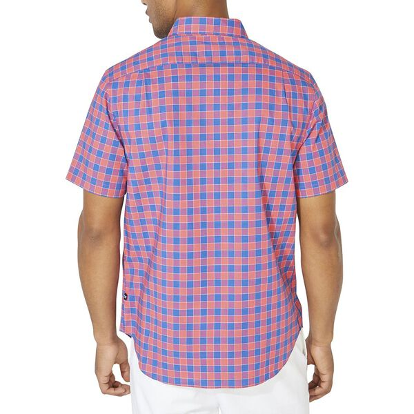 Classic Fit Plaid Poplin Short Sleeve Shirt, Paradise Pink, hi-res