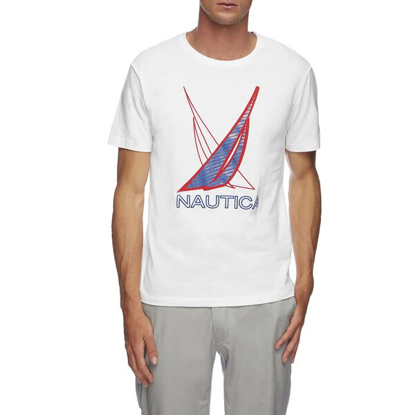 J CLASS SHADOW GRAPHIC TEE, BRIGHT WHITE, hi-res