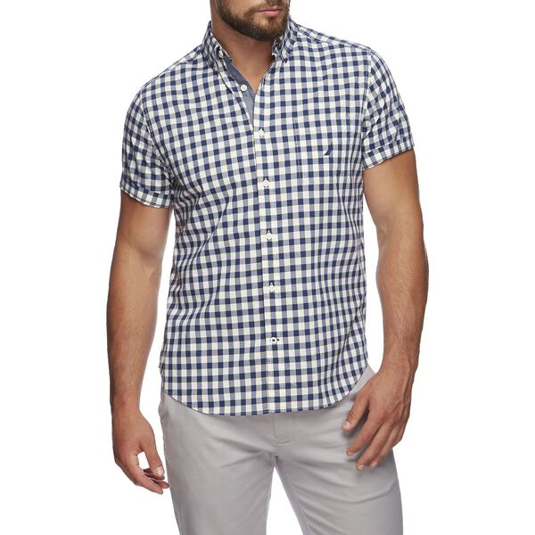 CLASSIC FIT STRETCH SHORT SLEEVE SHIRT IN GINGHAM