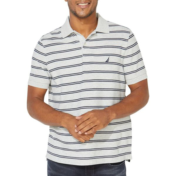 Performance Classic Fit Stripe Deck Polo