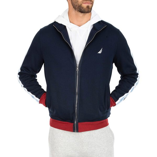 Classic Fit Taping Full Zip Sweater