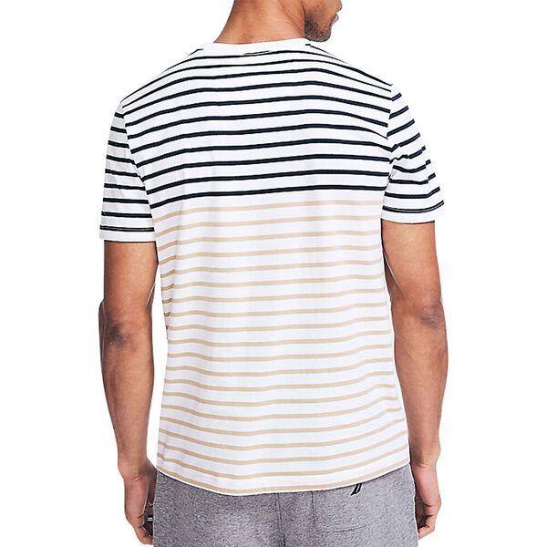 Balanced Stripe Tee, Bright White, hi-res