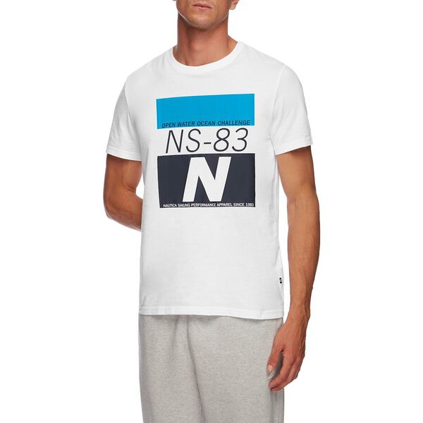 NS83 OPEN WATER CHALLENGE GRAPHIC TEE, BRIGHT WHITE, hi-res