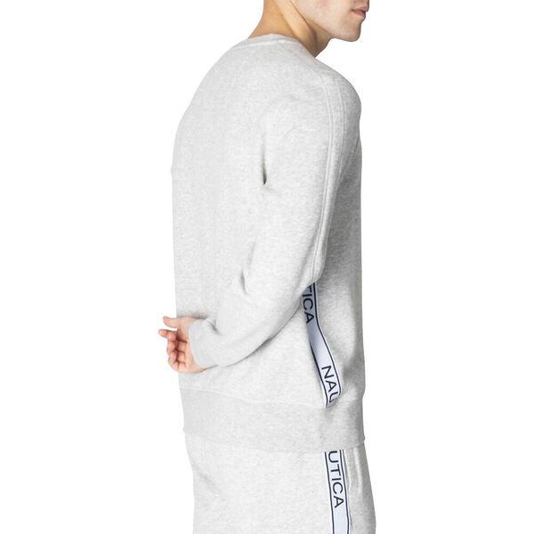 Nautica Unisex Logo Taping Sweater, Grey Heather, hi-res