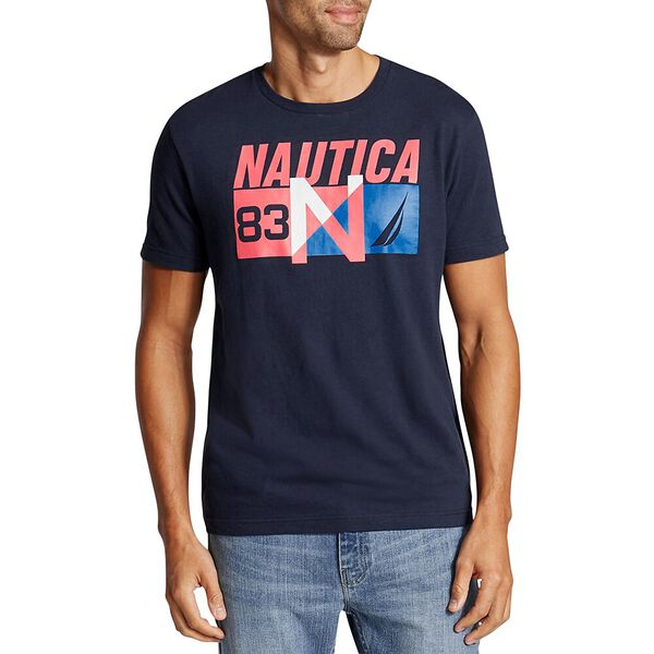 N-83 Short Sleeve Tee, Navy, hi-res
