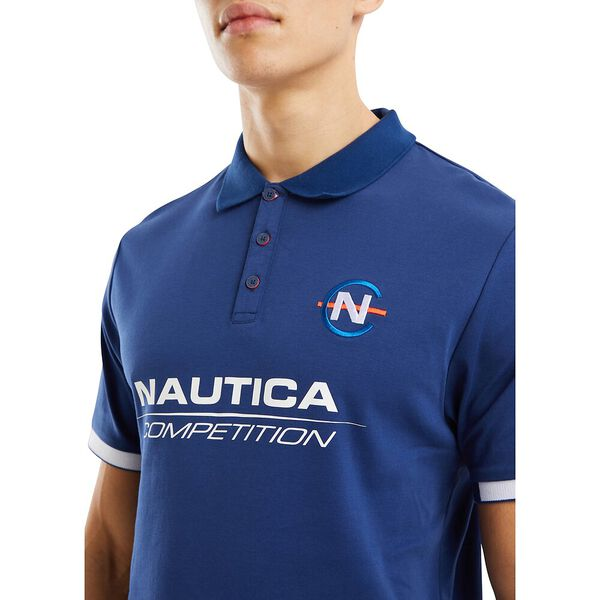 Nautica Competition Fantail Polo, Navy, hi-res