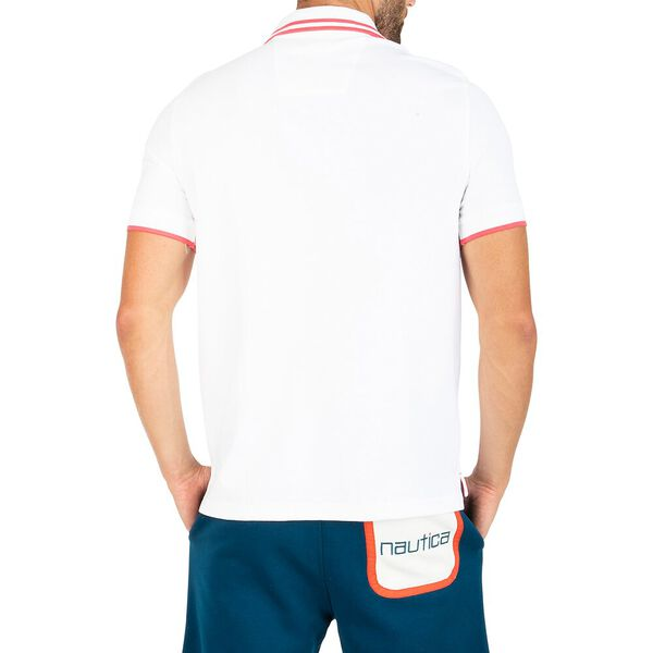 Classic Fit Navtech Tip The Cuff Polo, Bright White, hi-res