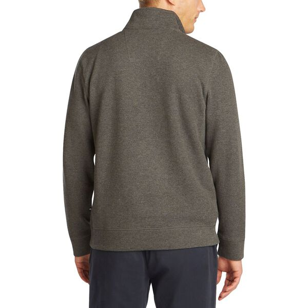 French Rib Half Zip Sweater, Charcoal Heather, hi-res