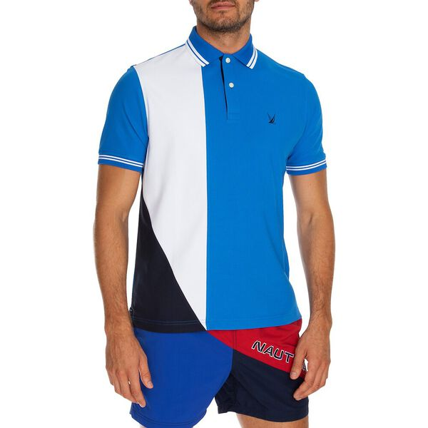 Navtech Colourblock Polo  Shirt, Spinner Blue, hi-res