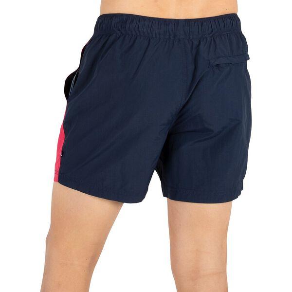 """Dual banded 6"""" Swim Shorts, Navy, hi-res"""
