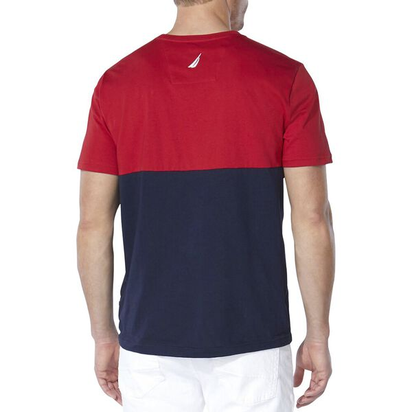 Embroidered Flags Tee, Nautica Red, hi-res