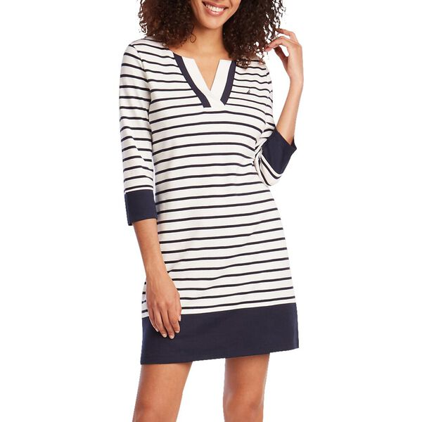 NAUTICA STRIPE KNIT DRESS