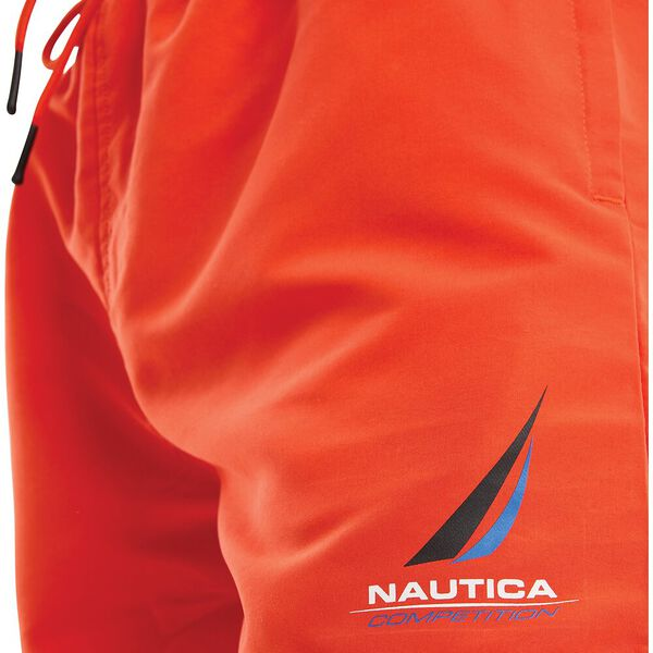 Nautica Competition Decks Swim Shorts, Red, hi-res